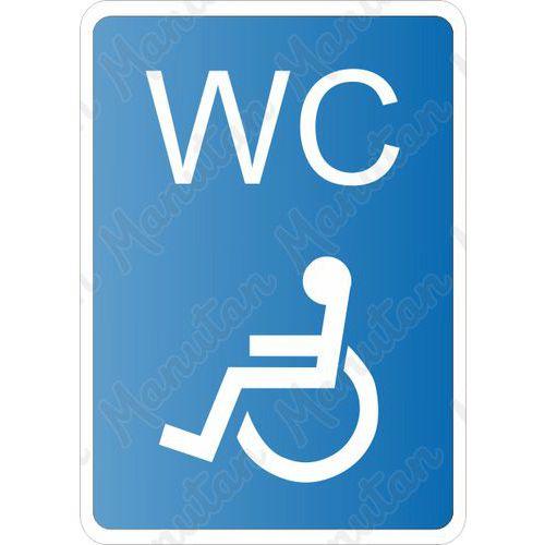 WC pro invalidy, samolepka 105 x 148 x 0,1 mm A6