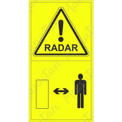 Výstraha radar, samolepka 95 x 175 x 0,1 mm