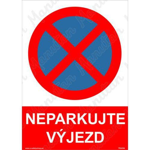 Neparkujte výjezd, plast 148 x 210 x 0,5 mm A5