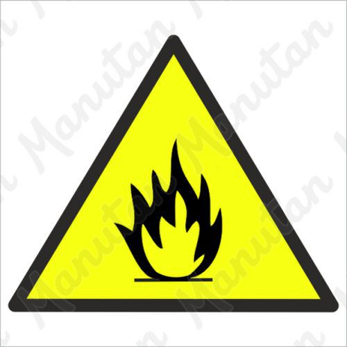Nebezpečí požáru, plast 210 x 210 x 0,5 mm