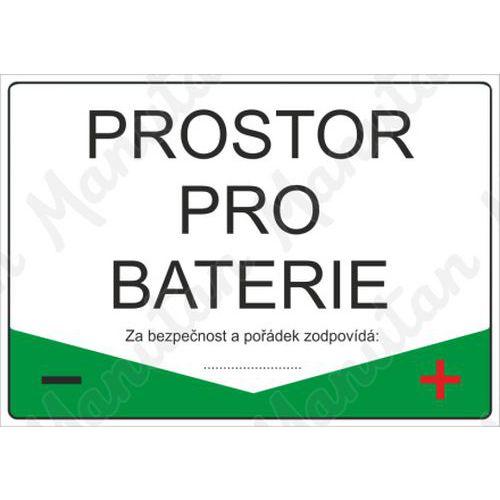 Prostor pro baterie, samolepka 297 x 210 x 0,1 mm A4