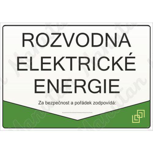 Rozvodna elektrické energie, plast 297 x 210 x 0,5 mm A4