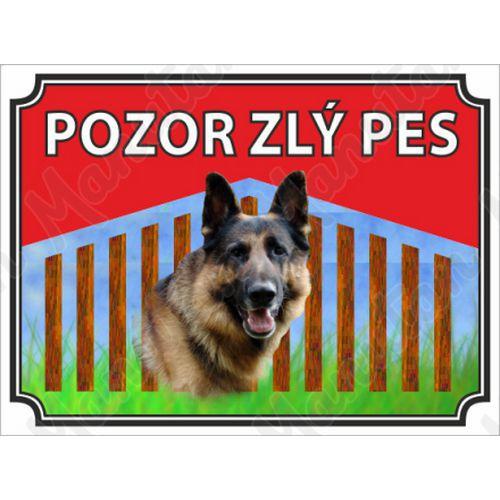 Pozor zlý pes, plast 210 x 148 x 0,5 mm A5
