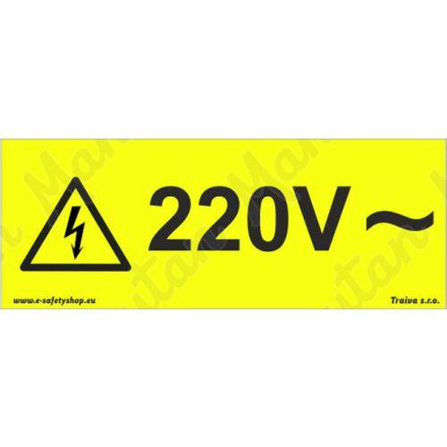 220V střídavé napětí, samolepka 100 x 30 x 0,1 mm, arch 18 ks