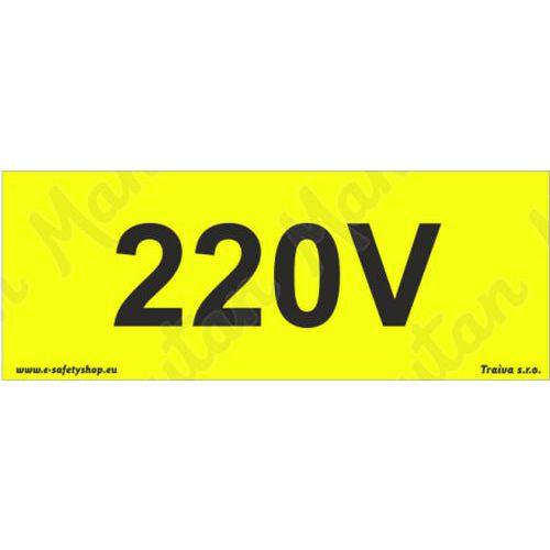 220V napětí, plast 210 x 80 x 0,5 mm