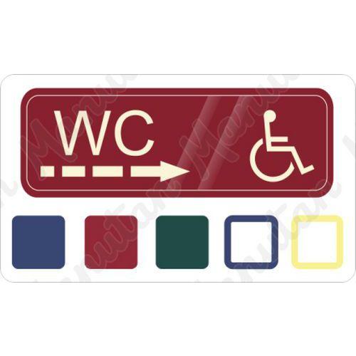 WC invalida vpravo, samolepka 200 x 70 x 0,1 mm, červená