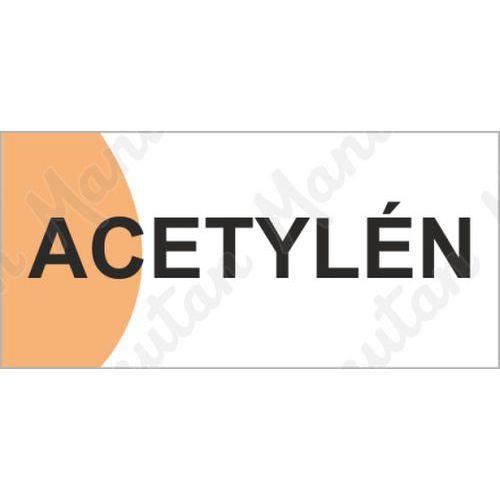 Acetylén, samolepka 190 x 90 x 0,1 mm