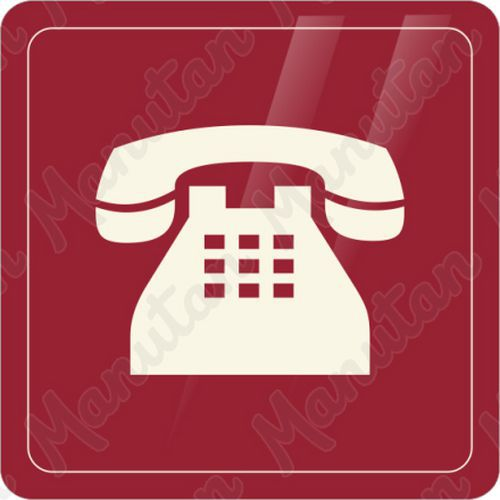Telefon, samolepka 90 x 90 x 0,1 mm, průhledná modrá