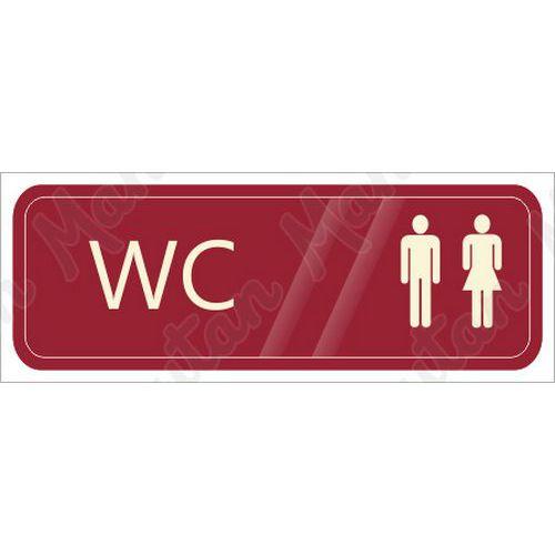 WC muži i dámy, samolepka 200 x 70 x 0,1 mm, modrá