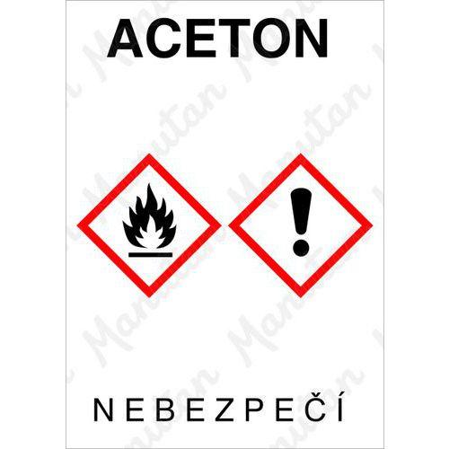 Aceton, samolepka 74 x 105 x 0,1 mm