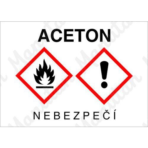 Aceton, samolepka 148 x 105 x 0,1 mm A6