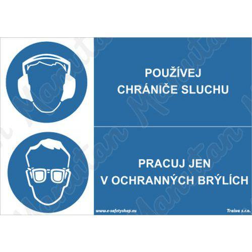 Používej chrániče sluchu, samolepka 210 x 148 x 0,1 mm A5