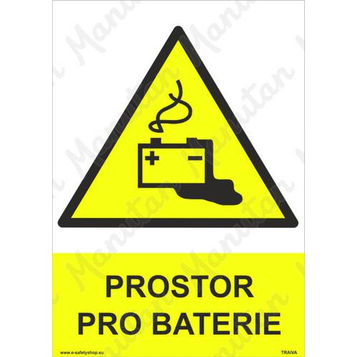 Prostor pro baterie, plast 297 x 420 x 2 mm A3