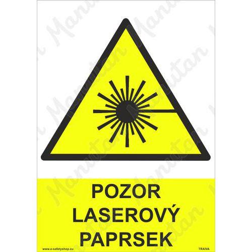Pozor laserový paprsek, plast 297 x 420 x 2 mm A3