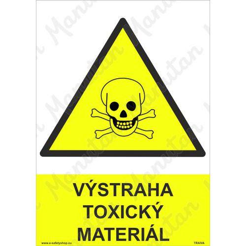Výstraha toxický materiál, plast 148 x 210 x 0,5 mm A5