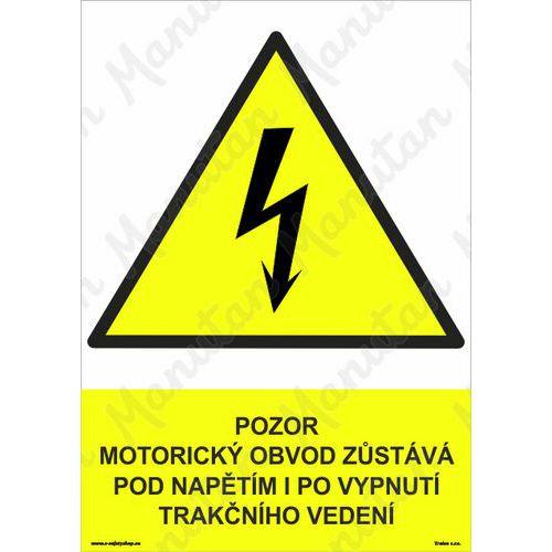 Pozor motorický obvod zůstává pod napětím, plast 210 x 297 x 2 m