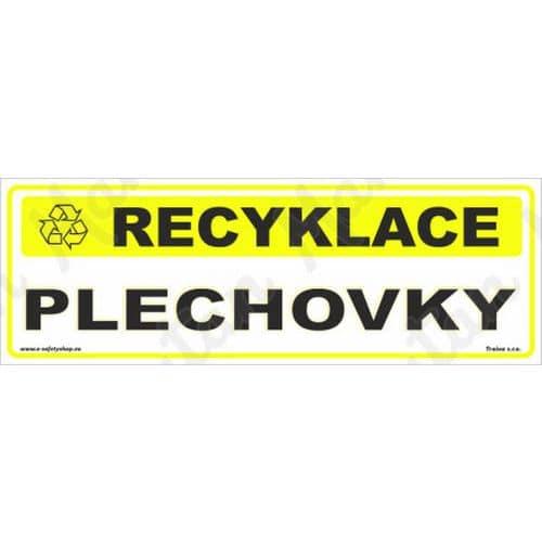 Recyklace plechovky, samolepka 290 x 100 x 0,1 mm