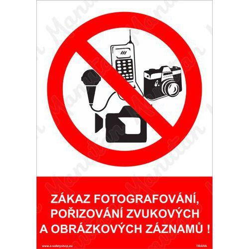 Zákaz fotografování, samolepka 297 x 420 x 0,1 mm A3
