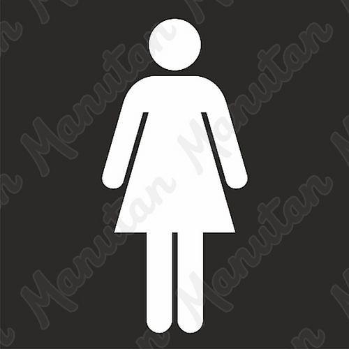 Šablona toalety ženy, plast 470 x 470 x 0,5 mm