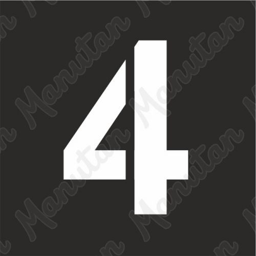 Šablona číslice 4, plast 470 x 470 x 0,5 mm výška číslice 320 mm