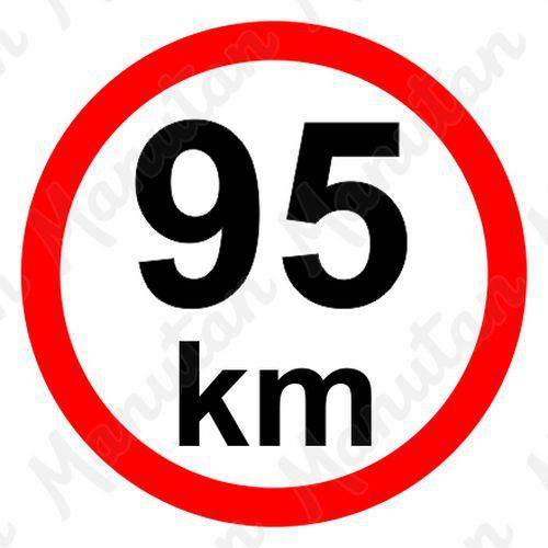 Omezení rychlosti 95 km/h, samolepka D 150 mm