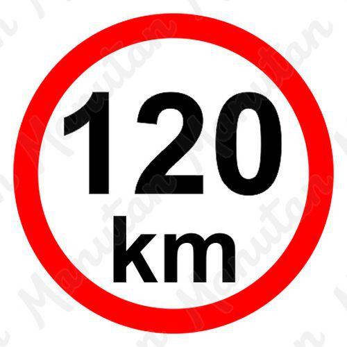 Omezení rychlosti 120 km/h, samolepka D 150 mm