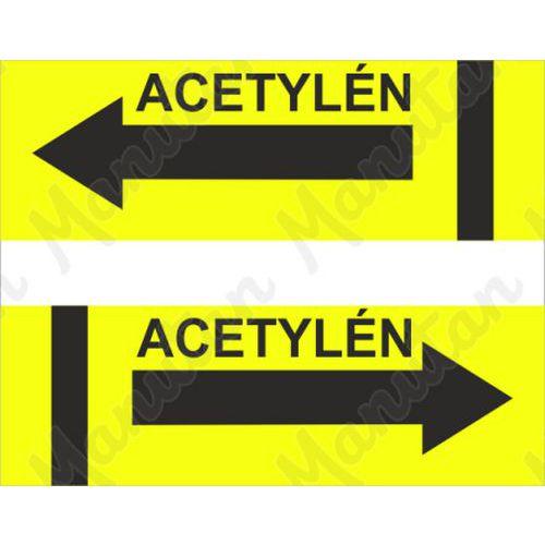 Acetylén, samolepka 100 x 48 x 0,1 mm vpravo
