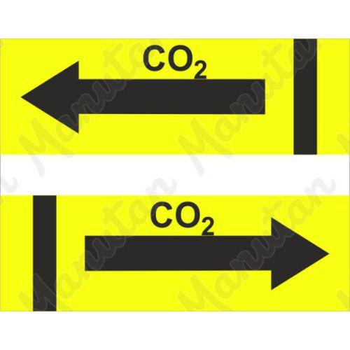 CO2, samolepka 200 x 97 x 0,1 mm vlevo