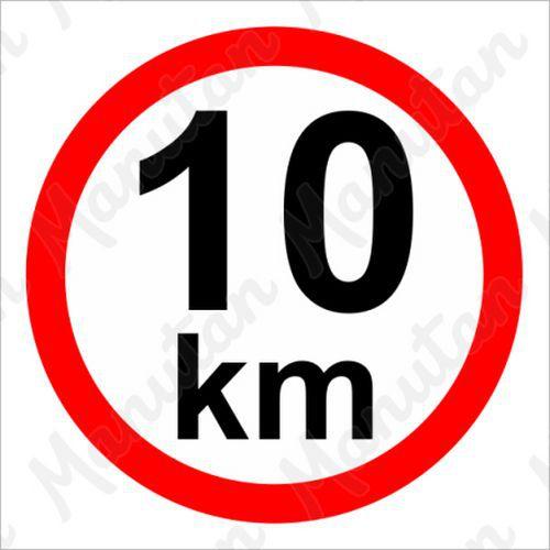 Omezení rychlosti 10 km/h, samolepka 210 x 210 x 0,1 mm