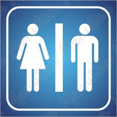 Toalety muži i ženy, samolepka 95 x 95 x 0,1 mm, 2 ks