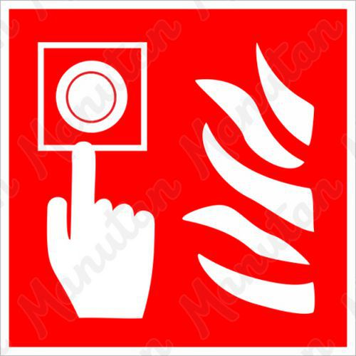 Požární hlásič, plast 150 x 150 x 0,5 mm