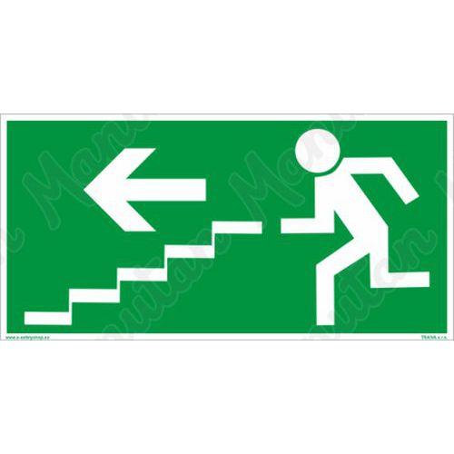 Únikové fotoluminiscenční bezpečnostní tabulky - Únikové schodiště vlevo dolů