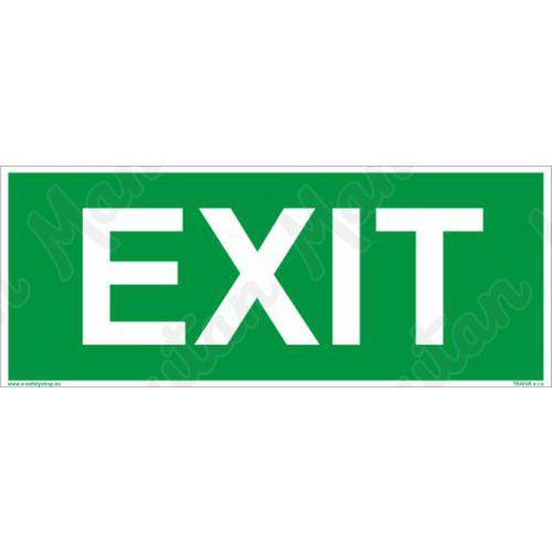 Únikové fotoluminiscenční bezpečnostní tabulky - EXIT