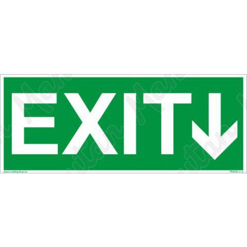 Únikové fotoluminiscenční bezpečnostní tabulky - EXIT se směrovkou
