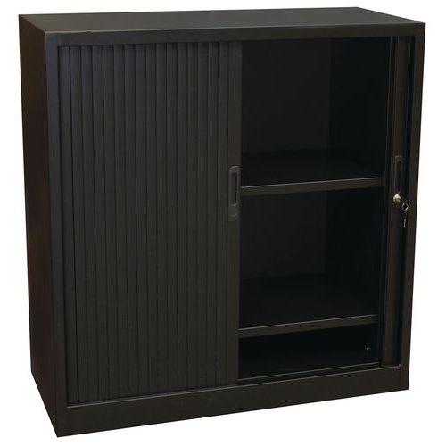 Kovová spisová skříň s roletou, 2 police, 105 x 100 x 45 cm, če