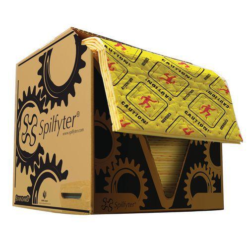 Sorpční rohože SM v kartonové krabici, univerzální, sorpční kapacita 86 l, 100 ks