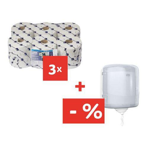 Papírové ručníky Tork Reflex 1vrstvé, 857 útržků, bílé, 18 ks +