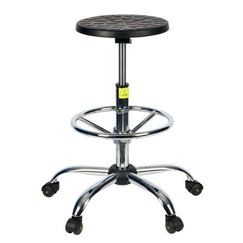 Antistatická ESD pracovní stolička Ned s kolečky