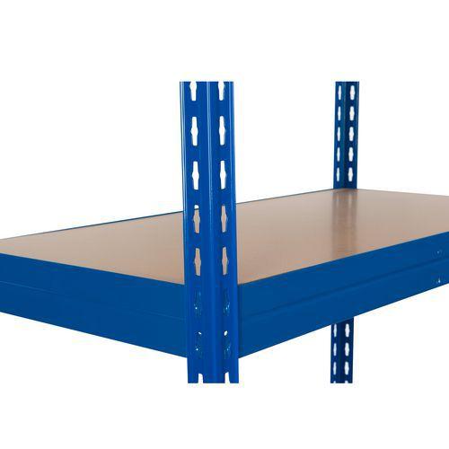 Přídavné dřevovláknité police, 210 cm, 350 kg, modré