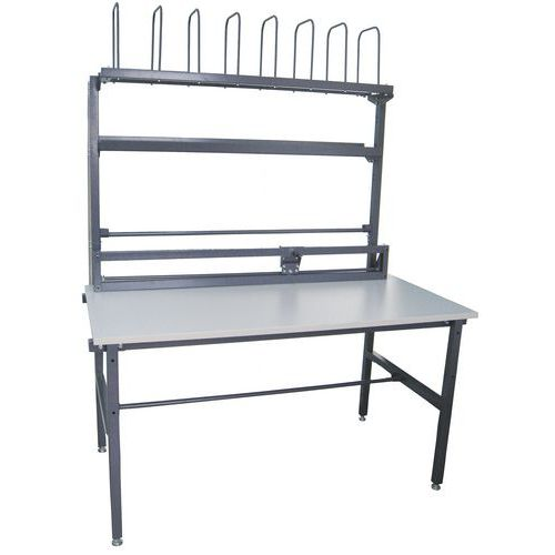 Balicí stůl Manutan, délka 1 600 mm