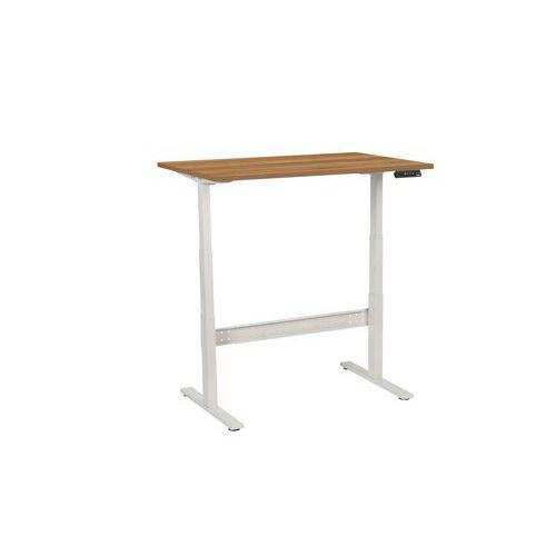 Výškově nastavitelné kancelářské stoly Manutan, Celková šířka: 1200 mm, Celková hloubka: 800 mm, Dez