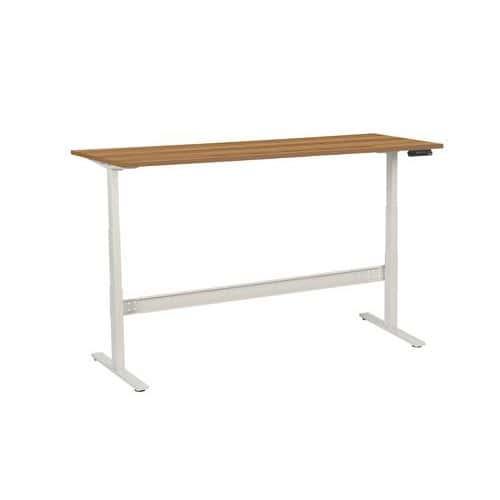 Výškově nastavitelné kancelářské stoly Manutan, Celková šířka: 2000 mm, Celková hloubka: 800 mm, Dez