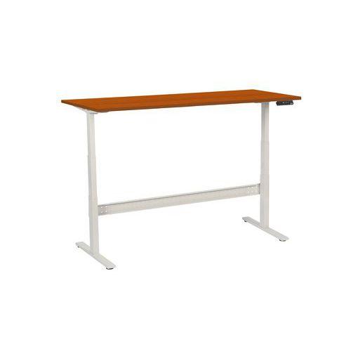 Výškově nastavitelné kancelářské stoly Manutan, Celková šířka: 1800 mm, Celková hloubka: 800 mm, Dez
