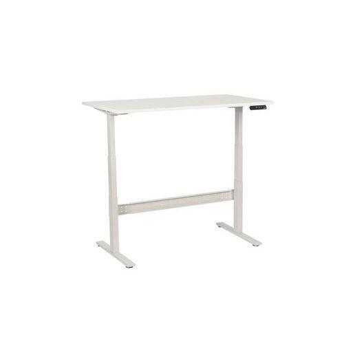 Výškově nastavitelné kancelářské stoly Manutan, Celková šířka: 1400 mm, Celková hloubka: 800 mm, Dez