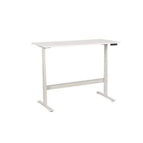 Výškově nastavitelné kancelářské stoly Manutan, Celková šířka: 1600 mm, Celková hloubka: 800 mm, Dez