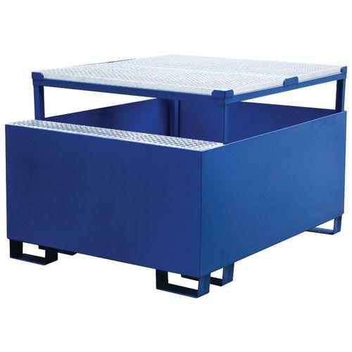 Ocelová záchytná vana pod IBC kontejner, kapacita 1 000 l, 95 x 120 x 150 cm - Prodloužená záruka na 10 let