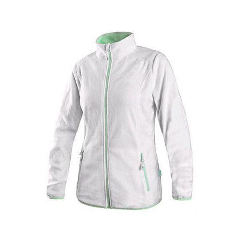 Mikina GRANBY LADY, dámská, fleece, bílo-zelená