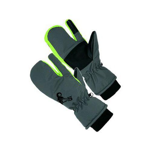 Rukavice zimní CXS FRIGG, palcové, tříprsté, šedo-zelené