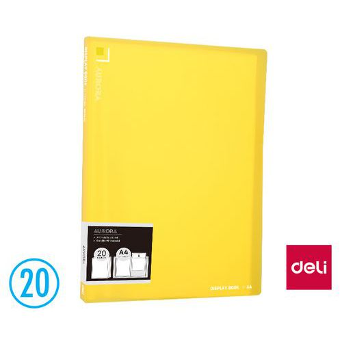 Katalogová kniha DELI AURORA 20l, žlutá