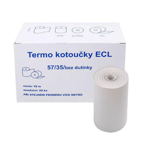 Kotouček do pokladny termocitlivý ECL 57/35 18m EET